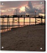 Yaupon Pier Sunset Acrylic Print