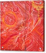 Yaweh El Shaddai Bottom Canvas Detail Acrylic Print