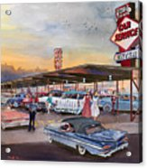 Yaw's Top Notch Drive In Acrylic Print by Mike Hill