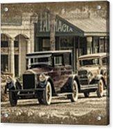 Ybor City Prop Cars Acrylic Print