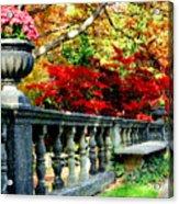 Ye Olde Garden Bench Acrylic Print