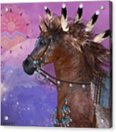 Year Of The Eagle Horse Acrylic Print