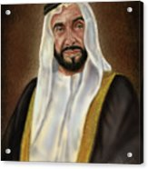 Year Of Zayed Portrait Release 2018 Acrylic Print
