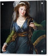 Yekhaterina Vasilievna Engelhardt, Countess Skavronskaya, Later Countess Litta E. Vigee-lebrun Acrylic Print