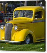 Yellow 30's Chevy Pickup Acrylic Print