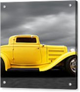 Yellow 32 Ford Deuce Coupe Acrylic Print