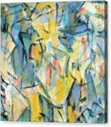 Yellow Abstraction Acrylic Print