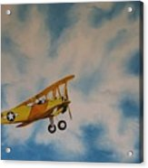 Yellow Airplane Acrylic Print
