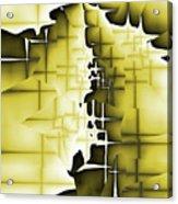 Yellow And Black 4 Acrylic Print