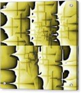 Yellow And Black 6 Acrylic Print
