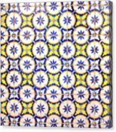 Yellow And Blue Circle Tile Acrylic Print
