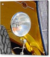 Yellow And Blue Hot Rod Headlight Acrylic Print
