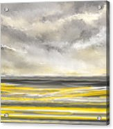 Yellow And Gray Seascape Art Acrylic Print
