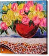 Yellow  And Pink Acrylic Print