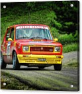 Yellow And Red Fiat 127 Acrylic Print