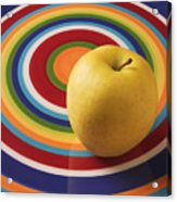 Yellow Apple  Acrylic Print by Garry Gay