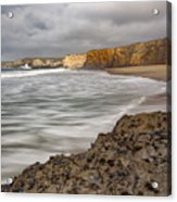 Yellow Bank Cliffs Acrylic Print
