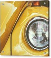 Yellow Beetle Acrylic Print