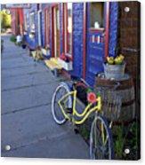 Yellow Bicycle Silverton Colorado Acrylic Print