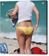 Yellow Bikini Bottom Acrylic Print