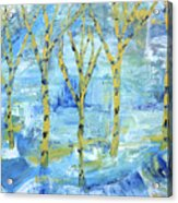 Yellow Birches Acrylic Print