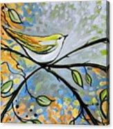 Yellow Bird Among Sage Twigs Acrylic Print