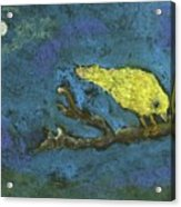 Yellow Bird And  Moon Acrylic Print