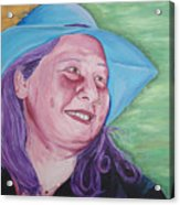 Yellow Blue Green Christine Acrylic Print