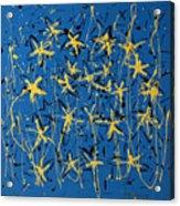 Yellow Blue Acrylic Print