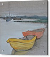 Yellow Boat 2 Acrylic Print