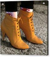 Yellow Boots Acrylic Print by Tony Ramos
