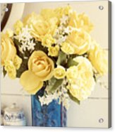 Yellow Bouquet Of Flowers Acrylic Print