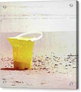 Yellow Bucket Acrylic Print