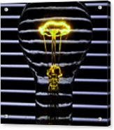 Yellow Bulb Acrylic Print