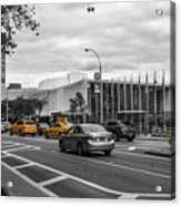 Yellow Cabs By The United Nations, New York 3 Acrylic Print