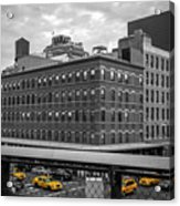 Yellow Cabs In Chelsea, New York 3 Acrylic Print