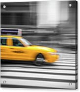 Yellow Cabs In New York 6 Acrylic Print