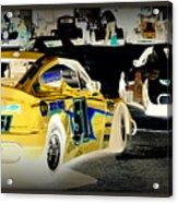 Yellow Car Acrylic Print