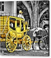 Yellow Carriage Acrylic Print