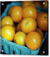 Yellow Cherry Tomatoes Acrylic Print