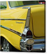 Yellow Chevrolet Tail Fin Acrylic Print