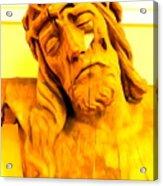Yellow Christ #1 Acrylic Print