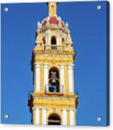 Yellow Church And Blue Sky Acrylic Print