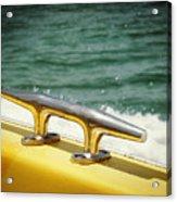 Yellow Cleat Acrylic Print