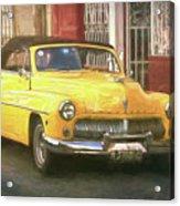 Yellow Convertible Mercury Acrylic Print