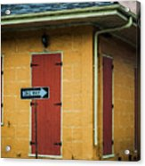 Yellow Cottage French Quarter- Nola Acrylic Print