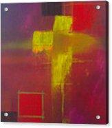 Yellow Cross Acrylic Print