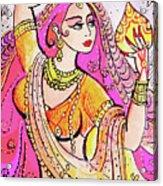 Yellow Devi Acrylic Print