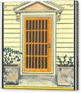 Yellow Door In Panama Acrylic Print