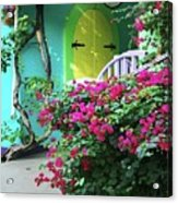Yellow Door Acrylic Print by Michael Thomas